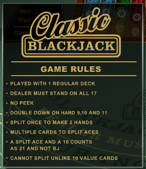 CLASSIC BLACKJACK GOLD GAME RULES