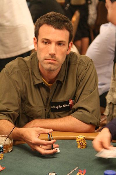 ワールドシリーズオブポーカーに出場するベンアフレック氏