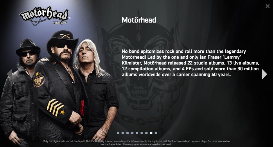 「Motörhead(モーターヘッド)」の紹介も。
