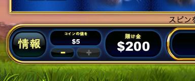 最高賭け金は、200ドル
