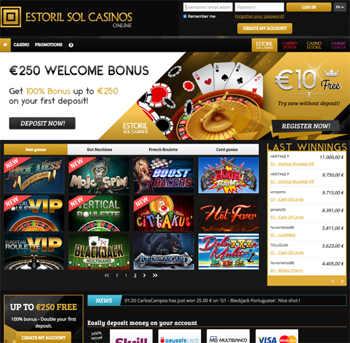 Estoril Sol Casinos Online