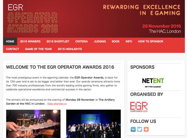 EGR OPERATOR AWARDS 2016