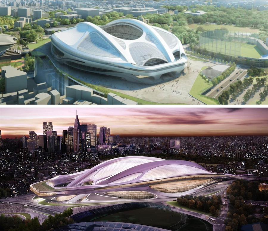 ザハ・ハディド氏が提出した新国立競技場のデザイン