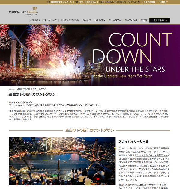 MARINA BAY Sands COUNT DOWN 2017
