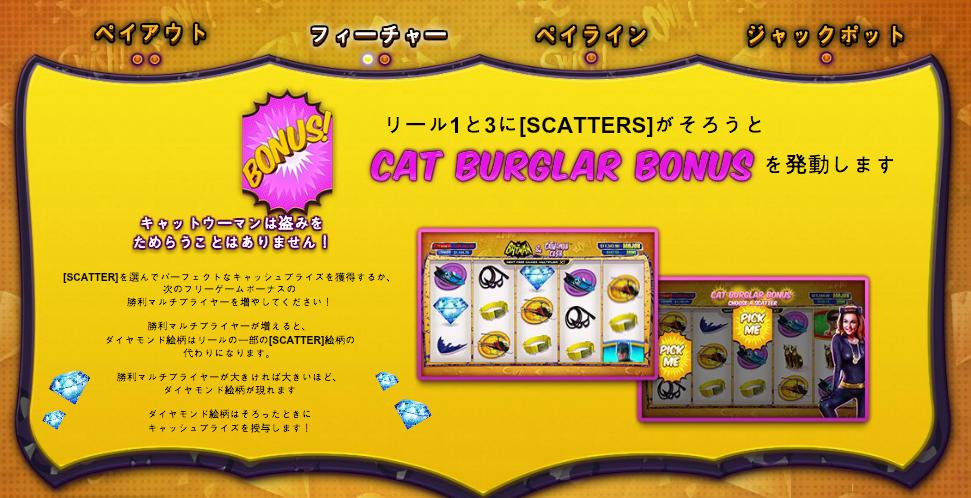 CAT  BURGLAR BONUS