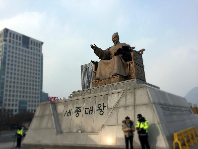 世宗(セジョン)大王銅像