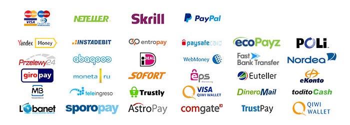 オンラインカジノが提供している各種ペイメント