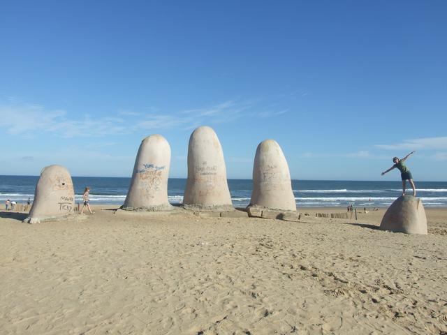 指のモニュメント(Los dedos Playa Brava)