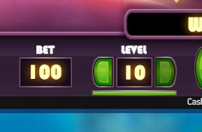 コインレベルは1〜10の範囲で調整できます。