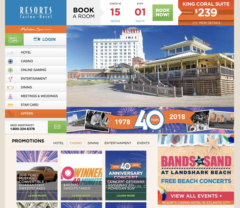 Resorts Casino Hotel(リゾーツカジノホテル)
